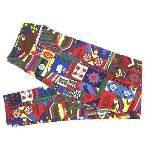 LuLaRoe Christmas Winter Leggings EUC O/S
